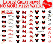 Disney Minnie Mouse Bow Clear Vinyl PEEL and STICK (NOT Waterslide) nail decals/stickers