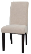 Milan Magnolia Arch Base Parson Side Chair, Set of 2, Beige