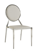 Milan Lois Oval Shaped Back Side Chair, Set of 4, White