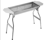 Thickened Stainless Steel Barbecue Pits Outdoor Folding Barbecue Grill BBQ Large Oven