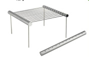Shrinkable Barbecue Grill Accessories Set Aluminium Grill Shrink Barbecue Grill Can Barbecue