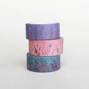 3 Rolls of Floral Washi Tapes Bundle / Japanese Washi Tape / Masking tape / Best Seller / Lunarbay Washi Tape / Lunarbaystore.com