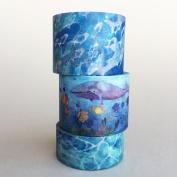 3 Rolls of Washi Tape Bundle Package / Basic Washi Tape / Lunarbay Washi Tape / Best Seller / Lunarbaystore.com