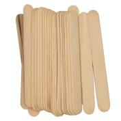 100 Pieces Disposable Wooden Waxing Spatula Tongue Depressor Eyebrows Hair Wax Applicator Sticks