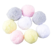 100PCs Multicolor Pompoms Ball Fur Craft DIY Soft Pom Poms Wedding Home Decoration Sewing On Cloth Accessories Round 2.5cm