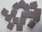 FortySevenGems 100 Pieces Lt Purple Opaque Stained Glass Mosaic Tiles 1.3cm x 1.3cm