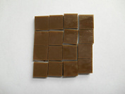 FortySevenGems 100 Pieces Choc Brown Opaque Stained Glass Mosaic Tiles 1.3cm x 1.3cm
