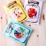 SarSean 100pcs Mini Bottle Self-Adhesive OPP Bags for Candy Biscuits Party Supplies