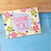 SarSean 200pcs THANK YOU Self-Adhesive OPP Bags for Candy Biscuits Party Supplies