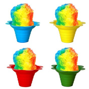 Shaved Ice / Sno Cone Flower Cups, 120ml (small), Case of 1000