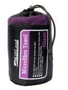 WillLand Outdoors Micro-Fibre Travel Towel, Purple, Giant