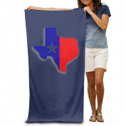 Beach Towel Texas Map Microfiber Towel