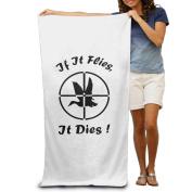 Beach Towel If It Flies It Dies Microfiber Towel