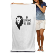 Beach Towel I'M SURROUNDED BY IDIOTS Microfiber Towel