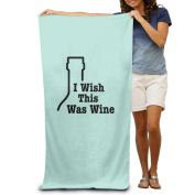 Beach Towel I Wish This Was Wine Microfiber Towel