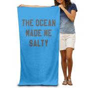 Beach Towel The Ocean Made Me Salty Microfiber Towel