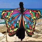 JCDZH-FT Summer New International Winds Butterfly Beach Towel Beach Mats Seaside Cushions Picnic Mat,D