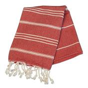 Birchwood Chaput's Didyma Style Turkish Hand Towel, Red