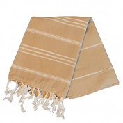 Birchwood Chaput's Didyma Style Turkish Hand Towel, Beige