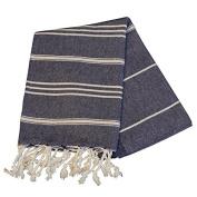 Birchwood Chaput's Didyma Style Turkish Hand Towel, Navy