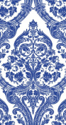 Ideal Home Range 3-Ply Blue Grandeur, 16 Count Guest Towel Napkins, Set of 2