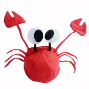 Fumingsi Christmas Red Lobster Crab Sea Animal Hat Halloween Costume Fancy Party Adult Children Cap-Red Colour