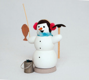 Snowman ice fisher