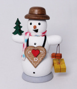 Snowman with gingerbread heart