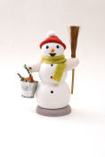 Snowman with bucket