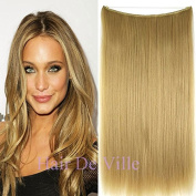 Halo Miracle Invisible Wire Flip In Secret Hair Extensions 100g 60cm 100% Remy Premium Grade Human Hair # 18 Dark Blonde Colour