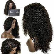 Foxys' Hair 130%Hair Density Brazilian Curly Wigs Glueless Curly Full Lace Wig Human Hair Lace Front Wigs With Baby Hair Thick Look 46cm