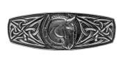 Celtic Horseshoe Hair Clip | Hand Crafted Metal Barrette Made in the USA with imported French Clips By Oberon Design
