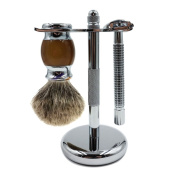 Queentools Chrome Razor and Brush Stand-Elegant and Facilitate Drying-Safety Razor Stand-Expand the Life of Your Shaving Brush