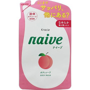 Naive Peach Body Wash by Kracie 380ml Refill