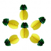 Daily Mall 6Pcs 30cm Handmade DIY Craft Tissue Paper Pineapple Honeycombs Decoration Wedding Home Party or Hawaiian Theme Decoration