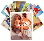 Pinup Postcard Pack 24pcs Elvgren Pinup Sexy Girl Vintage Magazine illustrations