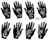 Tattoo Stencil Template 8 Different Sheet Set Fleur Pretty New Designs Suitable for Hand