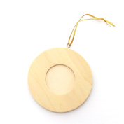 LWR Crafts Wooden Mini Round Photo Frame Pack of 12