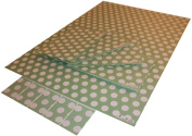 Re-wrapped - 1 sheet with 2 matching swing tags of eco friendly recycled birthday gift wrap wrapping paper - Polka Dot Green by UK designer Tracy Umney