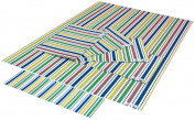 Re-wrapped - 1 sheet with 2 matching swing tags of eco friendly recycled birthday gift wrap wrapping paper - Go Stripey by UK designer Tracy Umney