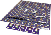Re-wrapped - 1 sheet with 2 matching swing tags of eco friendly recycled birthday gift wrap wrapping paper - Purple Owls by UK designer Vicky Scott