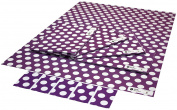 Re-wrapped - 1 sheet with 2 matching swing tags of eco friendly recycled birthday gift wrap wrapping paper - Polka Dot Purple by UK designer Daniel Calero Lazaro