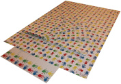 Re-wrapped - 1 sheet with 2 matching swing tags of eco friendly recycled birthday gift wrap wrapping paper - Children Handprints by UK designer Tracy Umney
