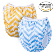 Swim Nappy By Page One, Reusable & Adjustable Fits All Nappy Sizes N-6(0-4 Year Old),Oversized Unisex Nappy Best For Swimming lesson & Baby Shower Gifts