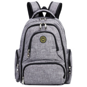 . - Baby Nappy Bag Waterproof Travel Nappy Backpack with Changing Pad and Stroller Clips