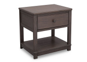 Serta Langston Nightstand with Drawer and Shelf, Rustic Grey