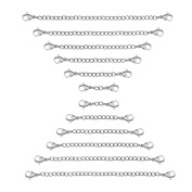 Sungrace Stainless Steel Necklace Bracelet Extender Chain Set