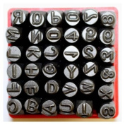 "Vector Number & Capital Letter Punch Set 36 Pc (6mm 1/4"")"