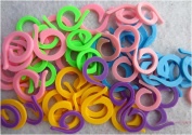Knitting Stitch Counter - LeBeila Split Stitch Marker Rings Multi-Coloured Crochet Stitch Markers Clip