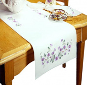 Design Works Crafts T201938-44RN Tobin Rhapsody, 36cm x 110cm Stamped Table Runner for Embroidery
